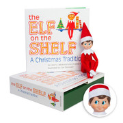 The Elf on the Shelf®: A Christmas Tradition Box Set includes boy scout elf w/ light skin