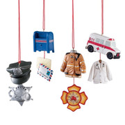 Police, EMT, Fire Fighter, or Postal Worker Profession Christmas Ornament 102329