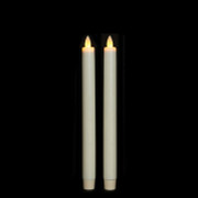 "Liown 10"" Set of 2 Moving Flame Taper Battery Candles 16256"