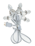 9 ft Christmas Village Replacement Light Cord with 5 Bulbs 6403