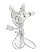 6 ft Christmas Village Replacement Light Cord with 3 Light Socket 6401