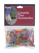 "250 Pack 1/4"" Mini Twist Pin Multi Color Ceramic Tree Plastic Replacement Light Bulbs P0661"