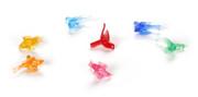 "100 Pack 1"" Multi Color Ceramic Tree Plastic Replacement Bird Bulbs P0664"