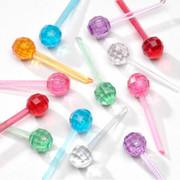 """250 Pack 1/4"""" Multi Color Ceramic Tree Plastic Replacement Medium Globe Pins P0660"""