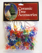"100 Pack 5/8"" Multi Color Ceramic Tree Plastic Replacement Flower Pins P0669"