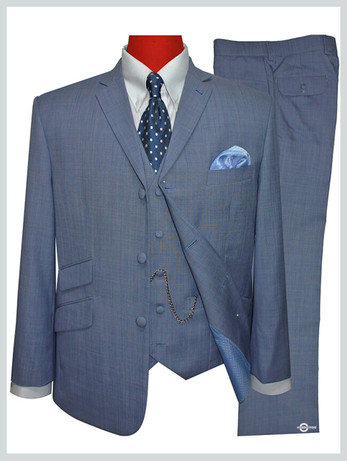 3 piece suit|mens tailored 60s mod sky colour suit 60s style