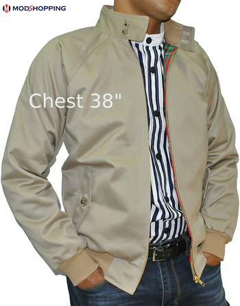 KHAKI HARRINGTON JACKET 50% sale