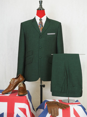mod suit| green linen suit for men tailored