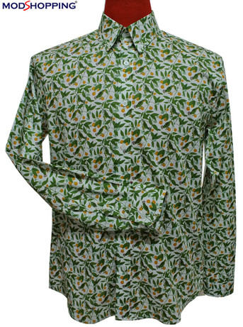 paisely shirt| tailor made green floral mens paisely shirt