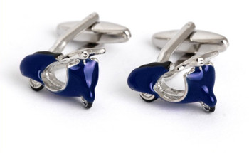 men's classical blue vespa cufflinks for men, 60s fashion