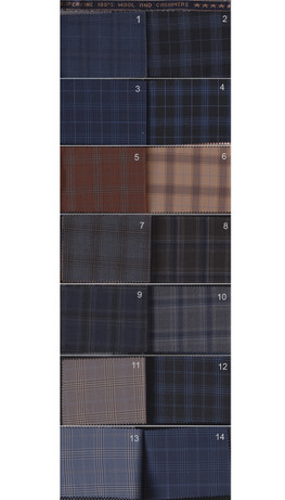 men's classical 180's wool & cashmere check bespoke 3 piece suit