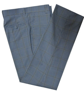 check trouser| shepherds houndstooth check sky blue trouser