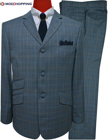 houndstooth suit|mod clothing 60s grey check suit for men