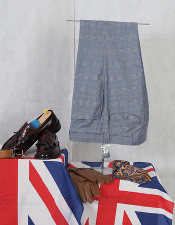 check trouser| grey & sky multi mens color check trouser