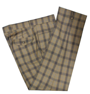 check trouser| weller check in light brown trouser