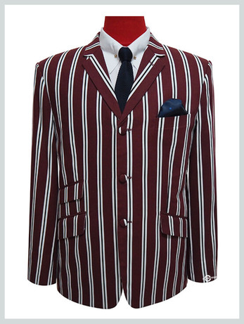 boating blazer | retro vintage style burgundy stripe boating blazer for men