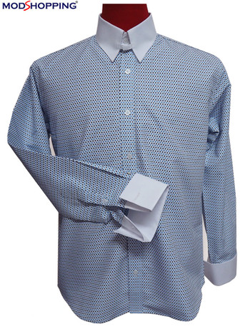 small dot sky colour tab collar shirt| official formal shirt