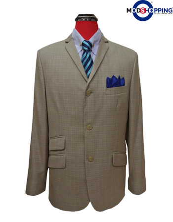 beige blazer mens| 60s retro style mens tweed blazer jacket for men