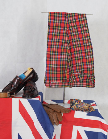 check trouser| madras check red formal trouser