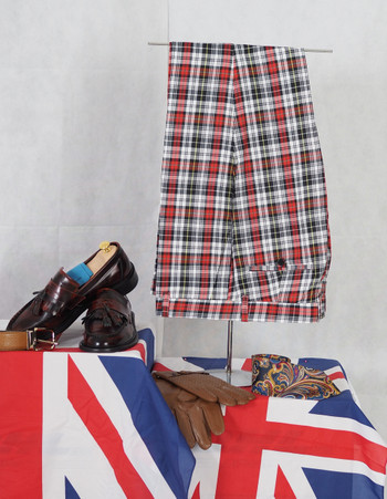multicolour trouser| tailore made 60s mod style check trouser