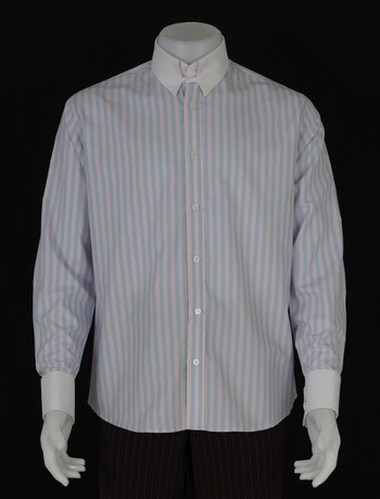 Only this shirt.sky and pink stripe tab collar shirt size( M )/ Neck 16""