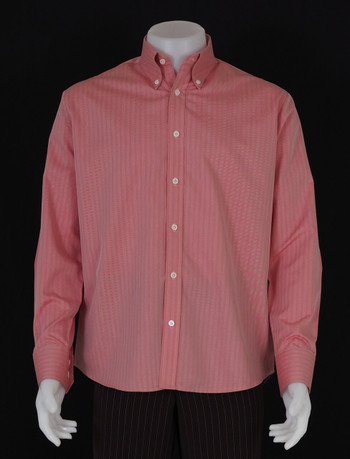 button down shirt| herringbone dark salmon mens dress shirt