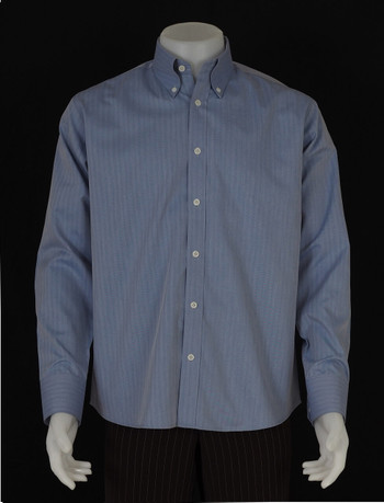 button down shirt| mens slim fit herringbone steel blue shirt