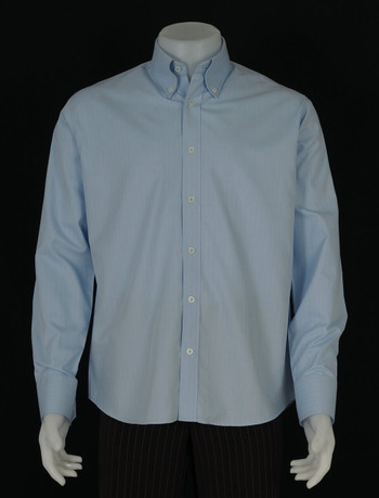 button down shirt| herringbone sky colour mens dress shirt