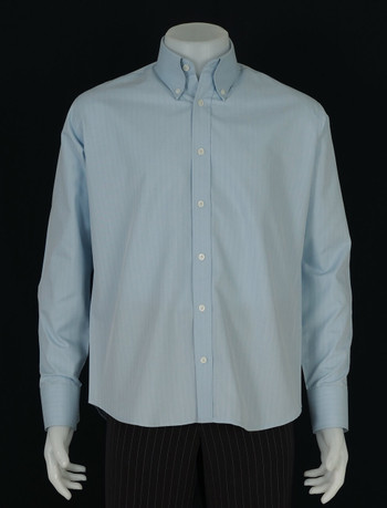 button down shirt| herringbone light sky colour formal shirt
