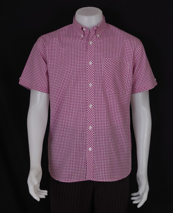 gingham shirt| paspberry retro gingham check mod shirt