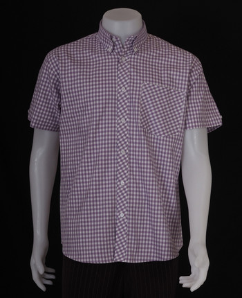 gingham shirt| lilac retro gingham check shirt for men