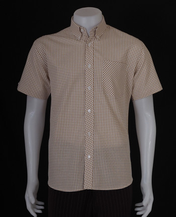 gingham shirt| 60s mod style musterd yellow mens gingham shirt uk