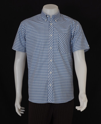 gingham shirt| tailore made mens slim fit ocean blue colour shirt
