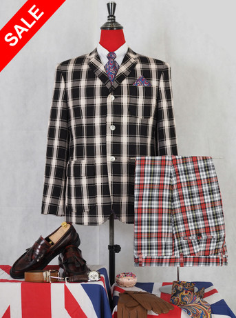 Only this jacket .black and white check classic jacket 40R