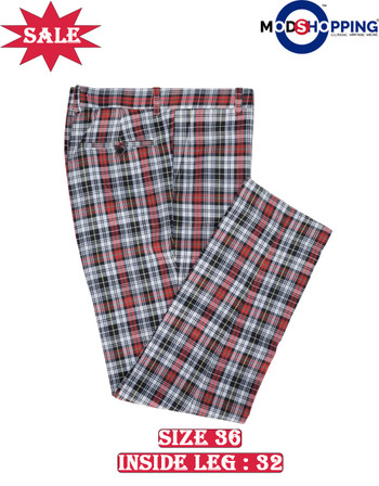 Only this trouser. madras check trouser 36, Inside leg 32