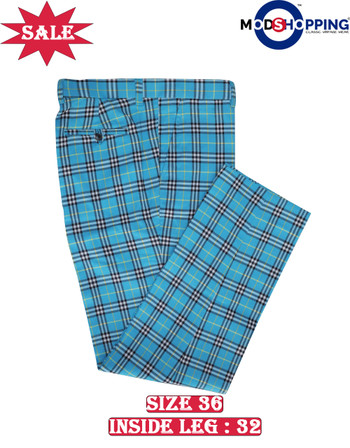 Only this trouser. check turquoise colour trouser 36, Inside leg 32