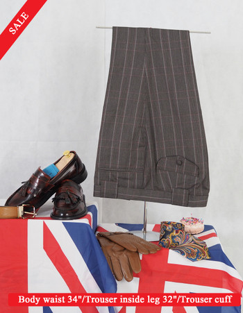 GREY STRIPE MOD TROUSER