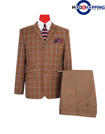 vintage blazer |60s fashion tailored check blazer jacket for men
