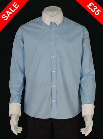 SPEAR POINT TAB COLLAR SKY SHIRT SALE