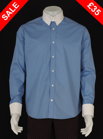 This shirt only Tab Collar Shirt Sky Blue   Size M / neck 16''