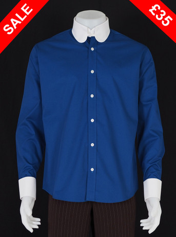 Only this shirt. tab collar penny tab Collar Blue  Shirt  Size M / neck 16''