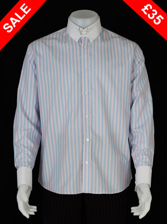 This shirt only. tab collar sky & pink stripe shirt  Size M / neck 16''