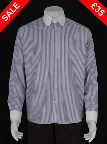 Only this shirt. red stripe tab collar shirt Size M / neck 16''