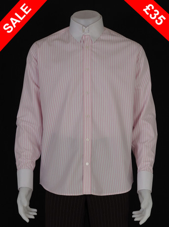 Only this shirt. tab collar light pink & white shirt Size M / neck 16''