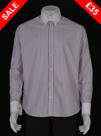 This shirt only. tab collar light purple shirt Size M / Neck 16""