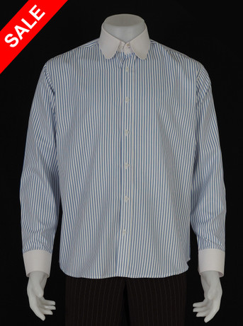 Only this shirt. blue stripe tab collar shirt Size M / neck 16''