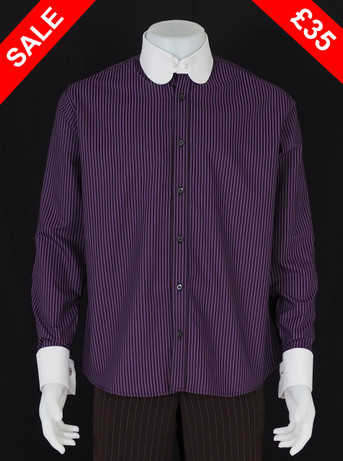 only this shirt.tab collar purple shirt Size M / Neck 16""
