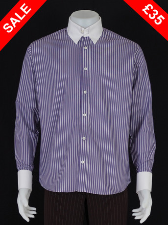this shirt only.tab collar lilac shirt Size M / Neck 16""