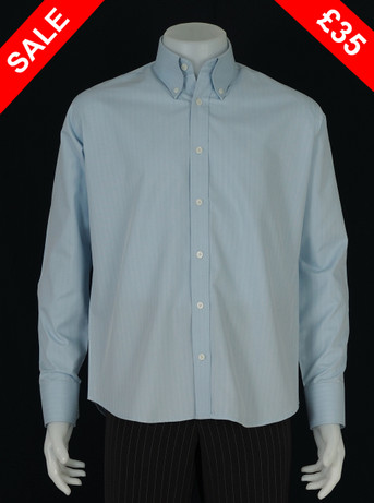 This shirt only.herringbone light sky shirt Size M / Neck 16""