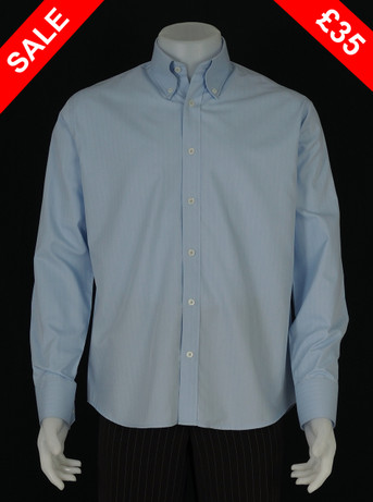 This shirt only .herringbone sky colour shirt Size M / Neck 16""